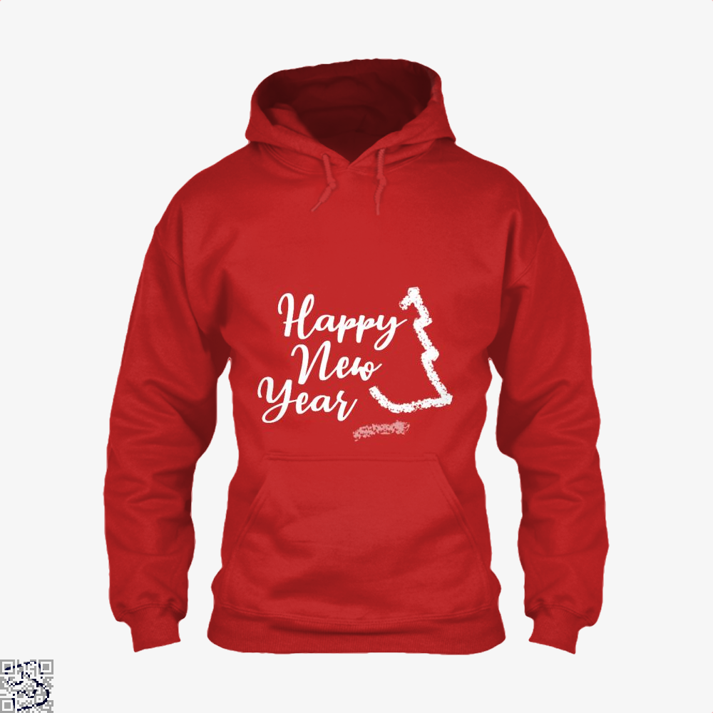 Happy New Year Tree Hoodie - Red / X-Small - Productgenjpg