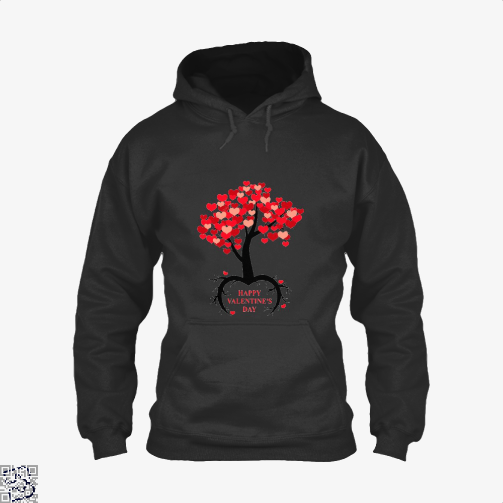 Happy Valentines Day Hoodie - Black / X-Small - Productgenjpg