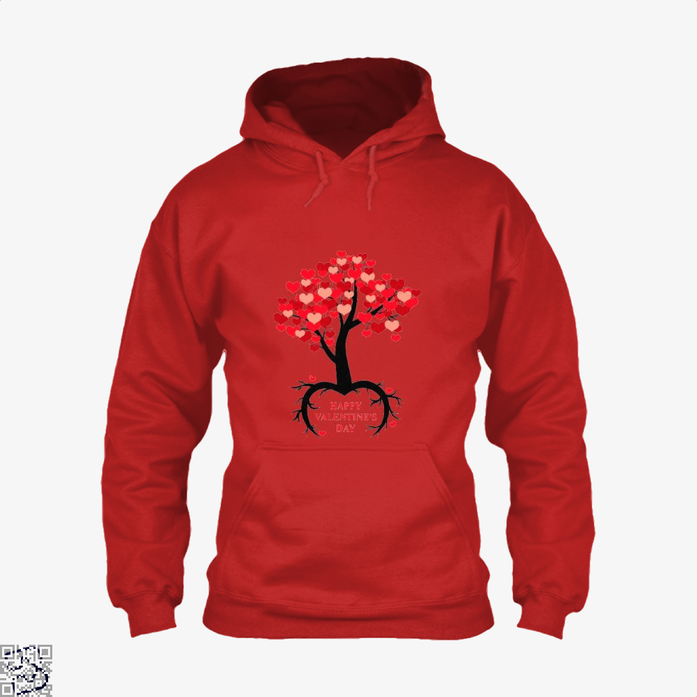 Happy Valentines Day Hoodie - Red / X-Small - Productgenjpg