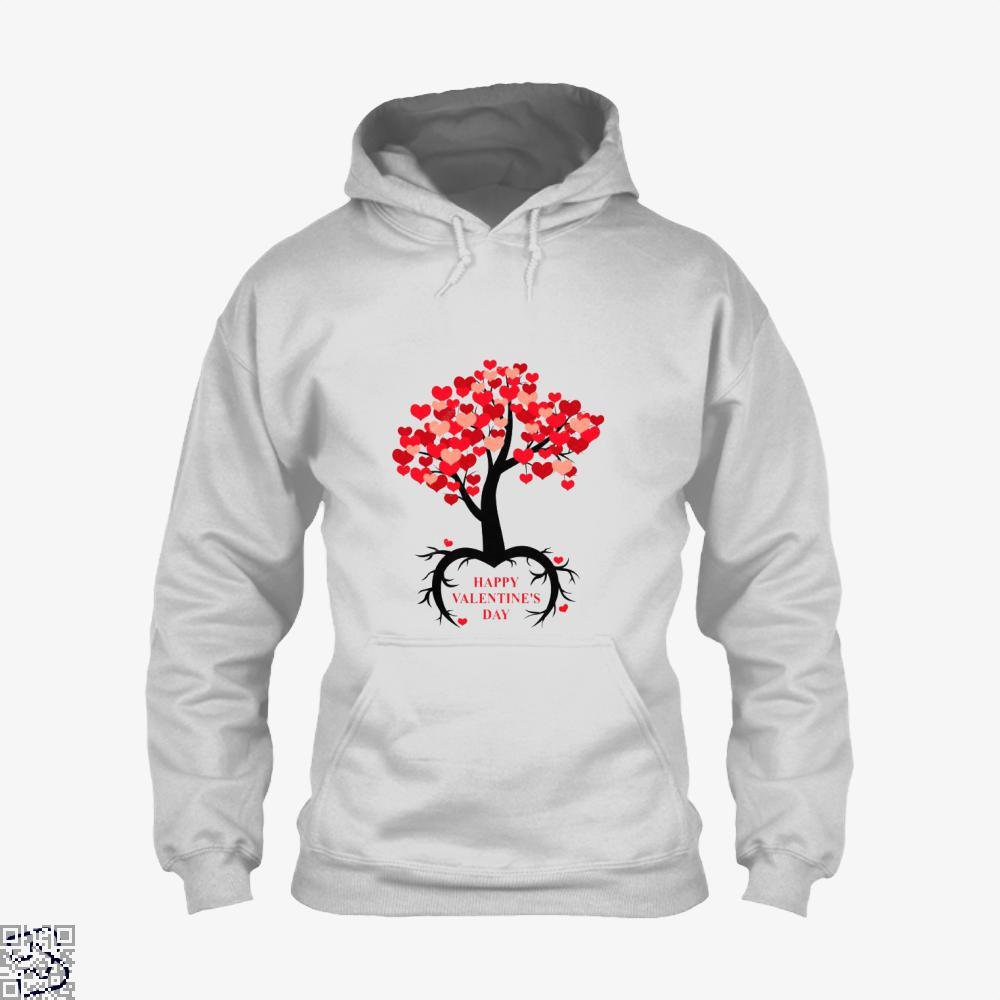 Happy Valentines Day Hoodie - White / X-Small - Productgenjpg