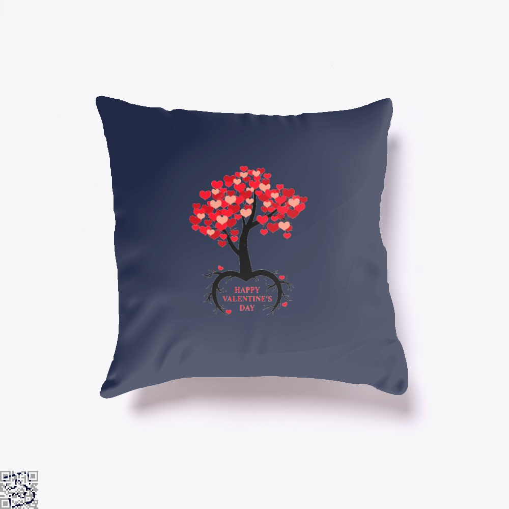 Happy Valentines Day Throw Pillow Cover - Blue / 16 X - Productgenjpg