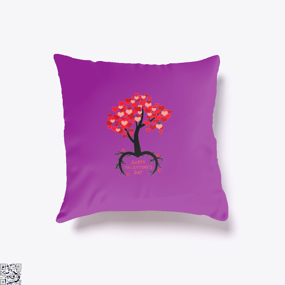Happy Valentines Day Throw Pillow Cover - Purple / 16 X - Productgenjpg
