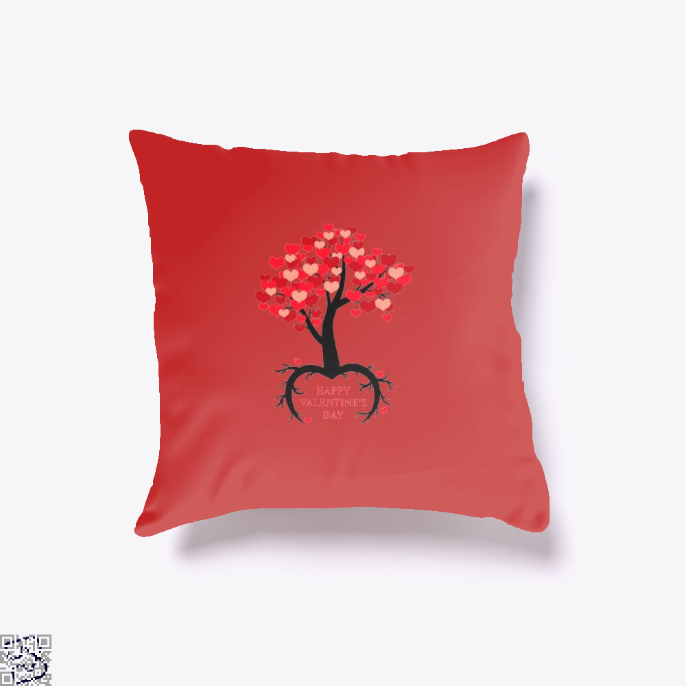 Happy Valentines Day Throw Pillow Cover - Red / 16 X - Productgenjpg