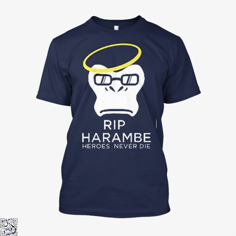 Harambe Heroes Never Die Overwatch Deadpan Shirt - Men / Blue / X-Small - Productgenjpg