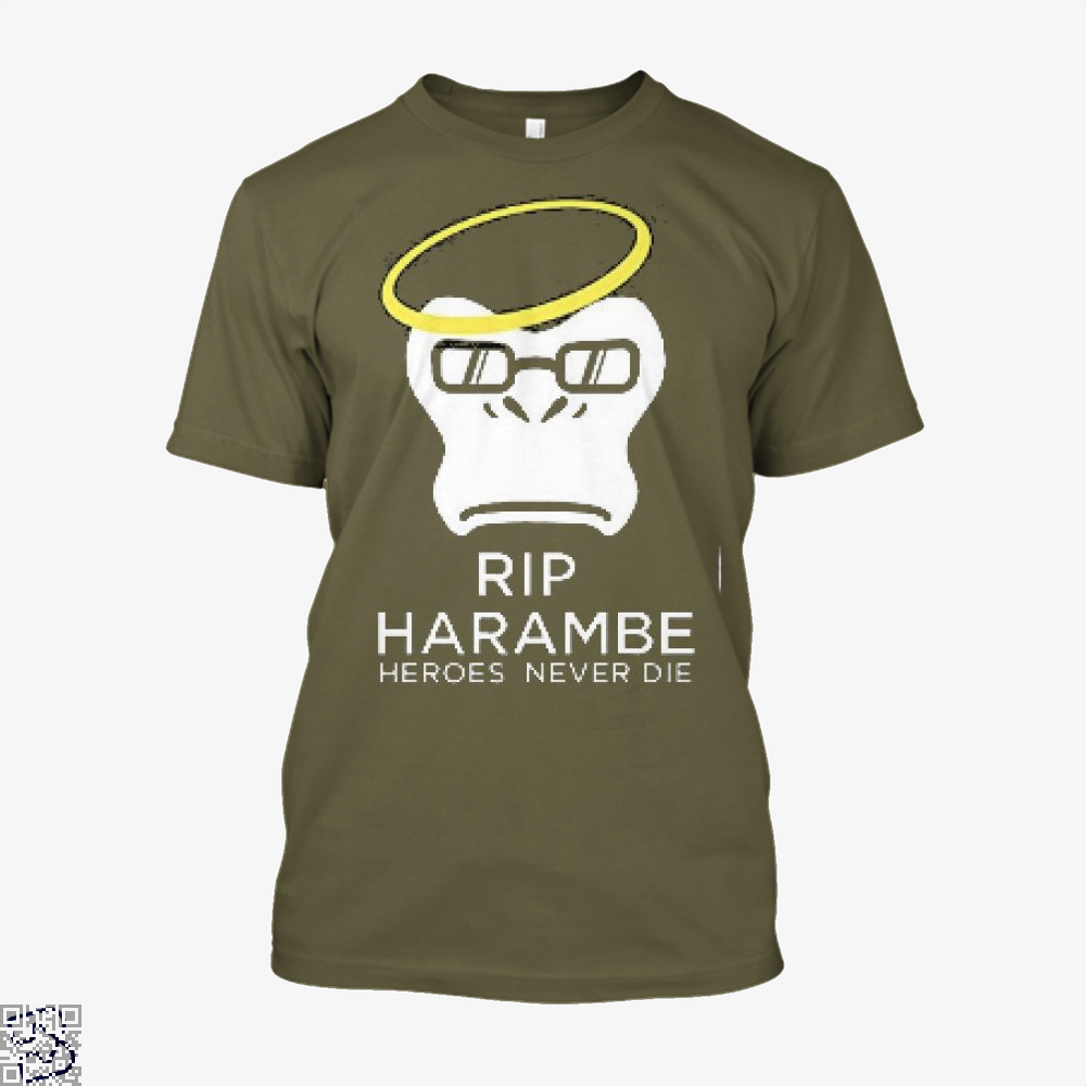 Harambe Heroes Never Die Overwatch Deadpan Shirt - Men / Brown / X-Small - Productgenjpg
