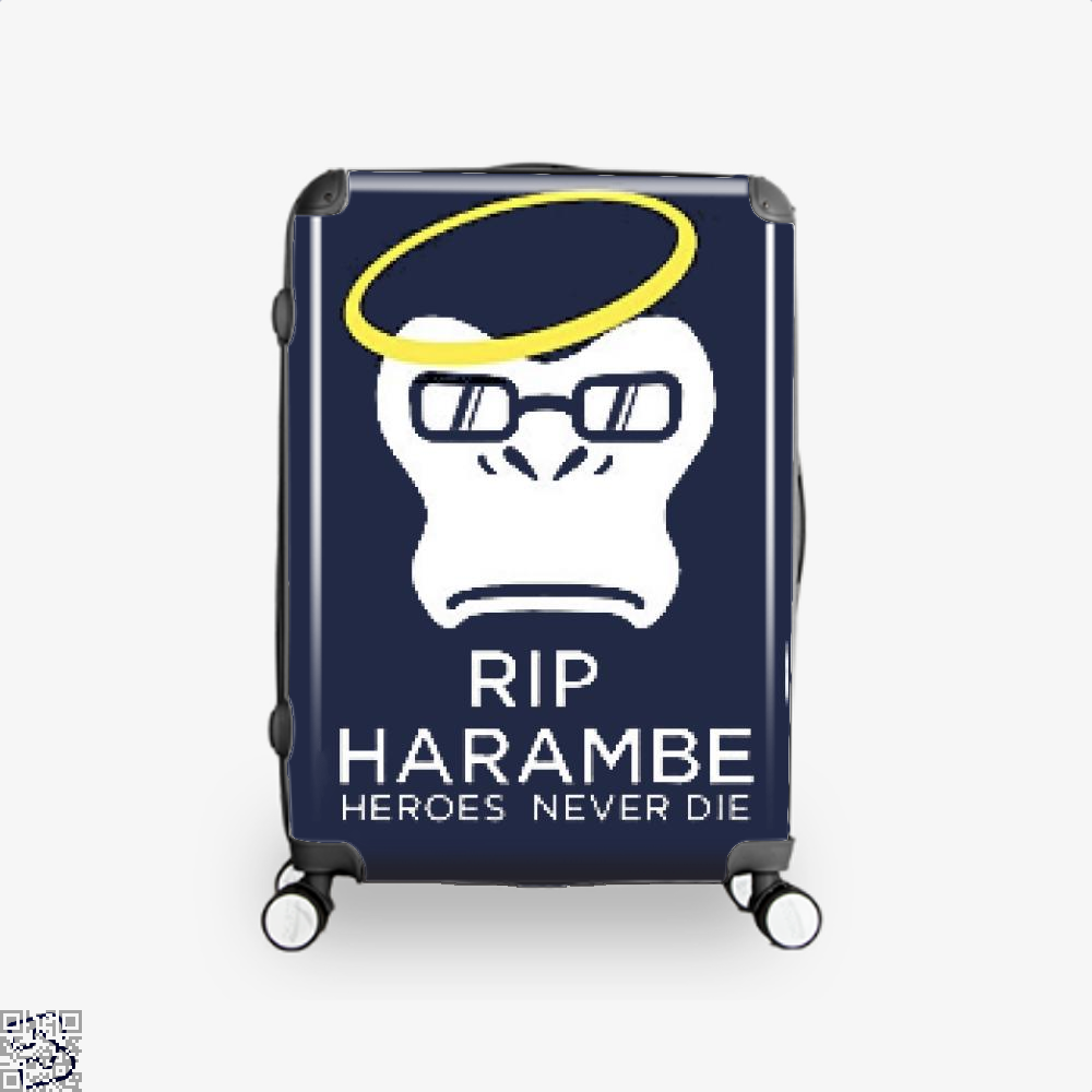 Harambe Heroes Never Die Overwatch Deadpan Suitcase - Blue / 16 - Productgenjpg