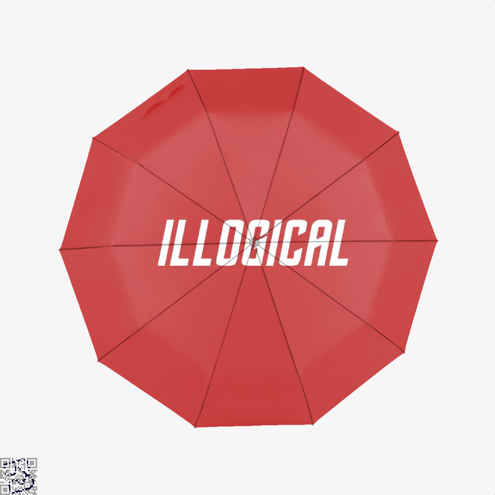 Highly Illogical Star Wars Umbrella - Red - Productgenapi