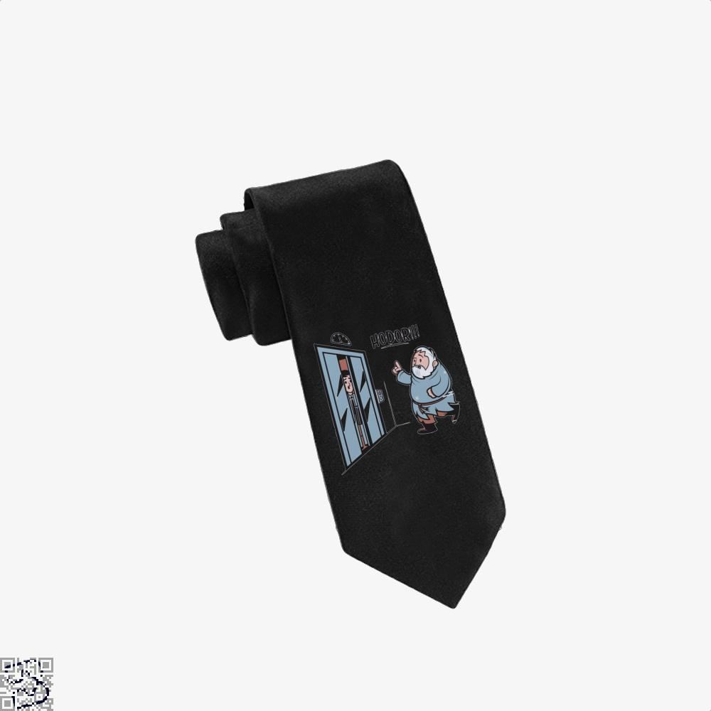 Hodor!!! Hold On The Elevator Game Of Thrones Tie - Black - Productgenjpg