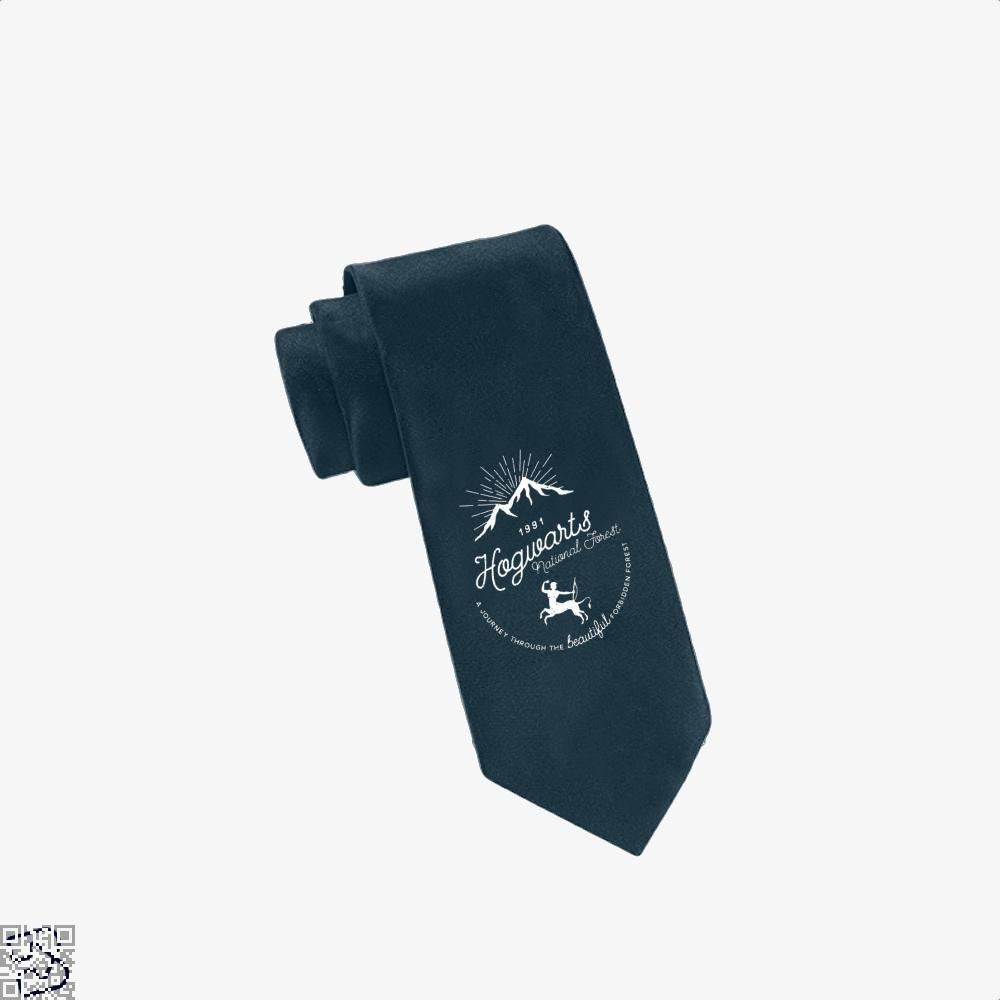 Hogwarts National Forest Varient Harry Potter Tie - Navy - Productgenjpg