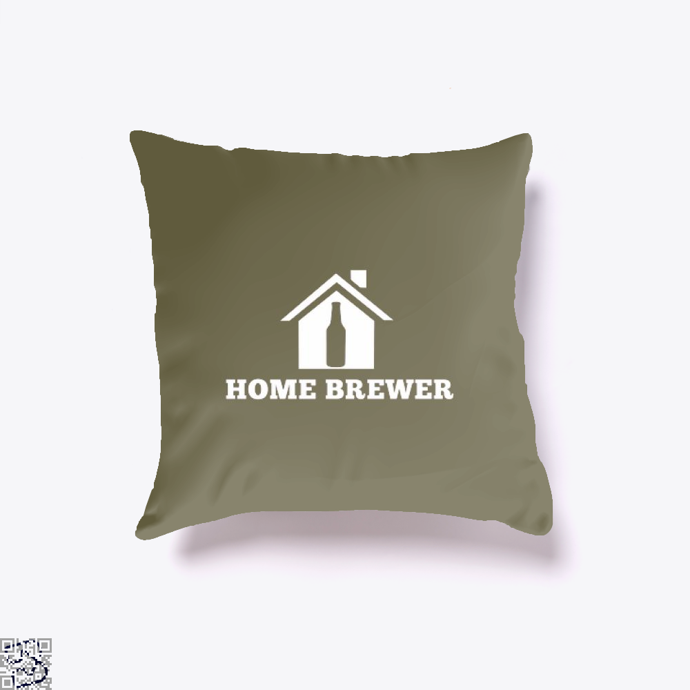 Home Brewer Deadpan Throw Pillow Cover - Brown / 16 X - Productgenjpg