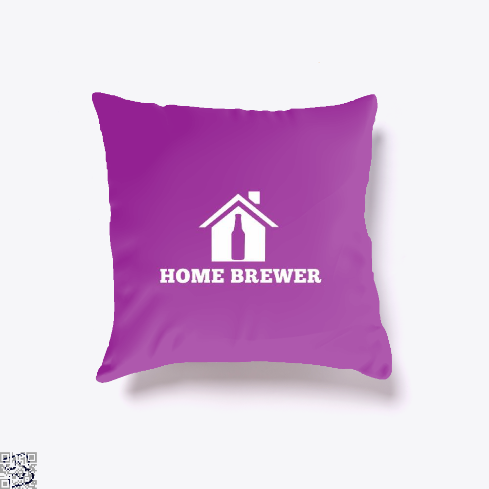 Home Brewer Deadpan Throw Pillow Cover - Productgenjpg