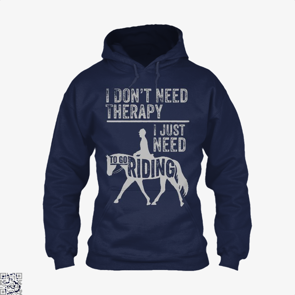 Horse Riding Therapy Anecdotal Hoodie - Blue / X-Small - Productgenjpg