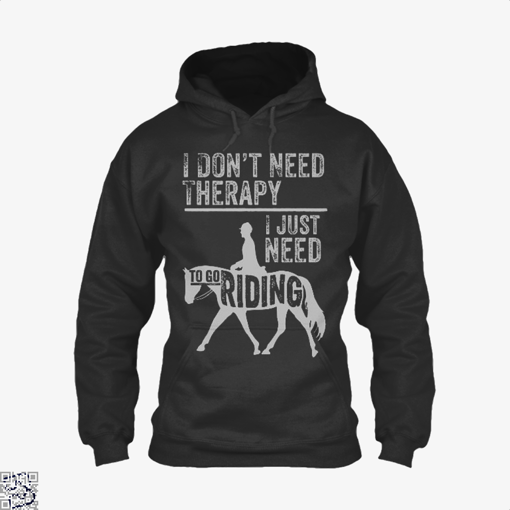 Horse Riding Therapy Anecdotal Hoodie - Productgenjpg