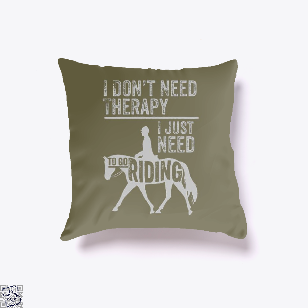 Horse Riding Therapy Anecdotal Throw Pillow Cover - Brown / 16 X - Productgenjpg