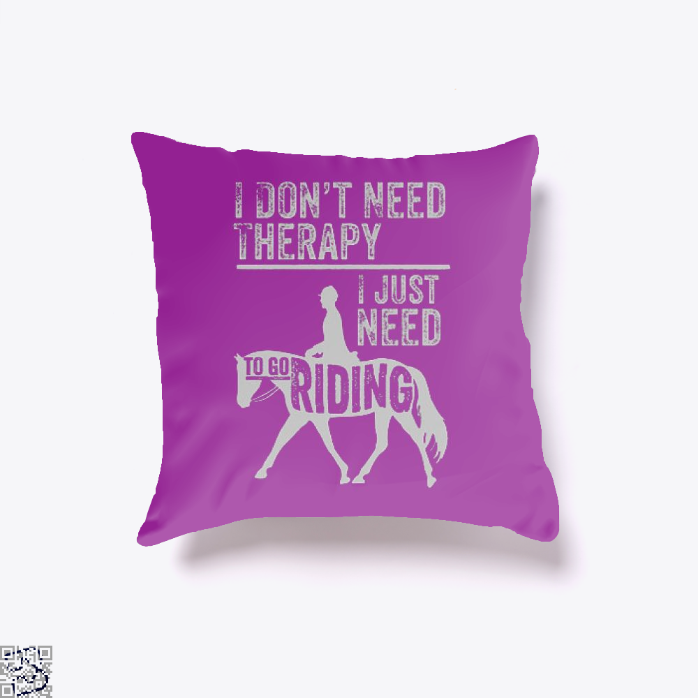 Horse Riding Therapy Anecdotal Throw Pillow Cover - Productgenjpg