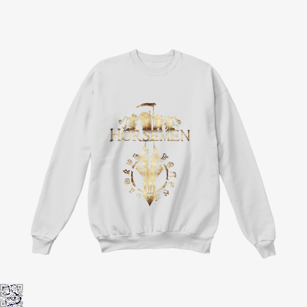 Horsemen Horse Crew Neck Sweatshirt - White / X-Small - Productgenjpg