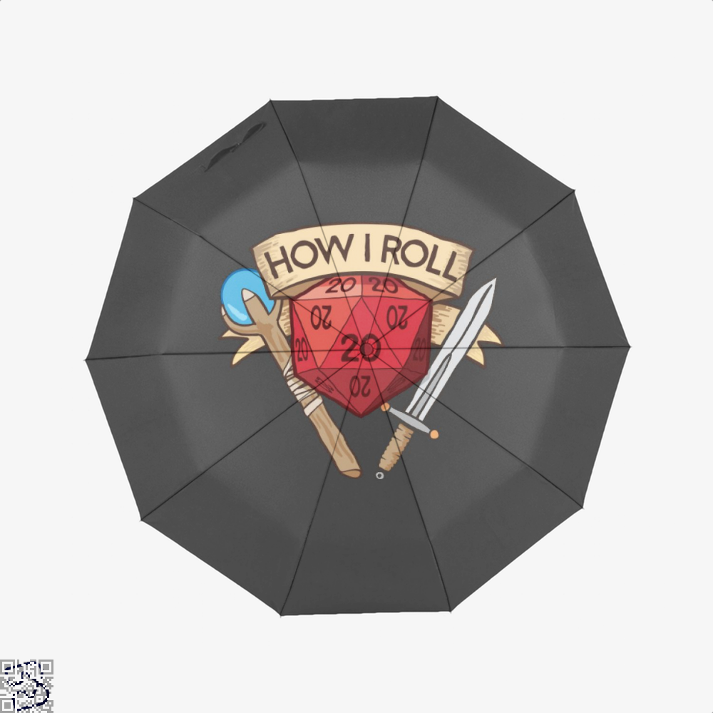 How I Roll Dungeons Dragon And Dungeon Umbrella - Black - Productgenjpg