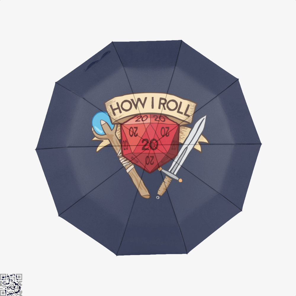 How I Roll Dungeons Dragon And Dungeon Umbrella - Blue - Productgenjpg