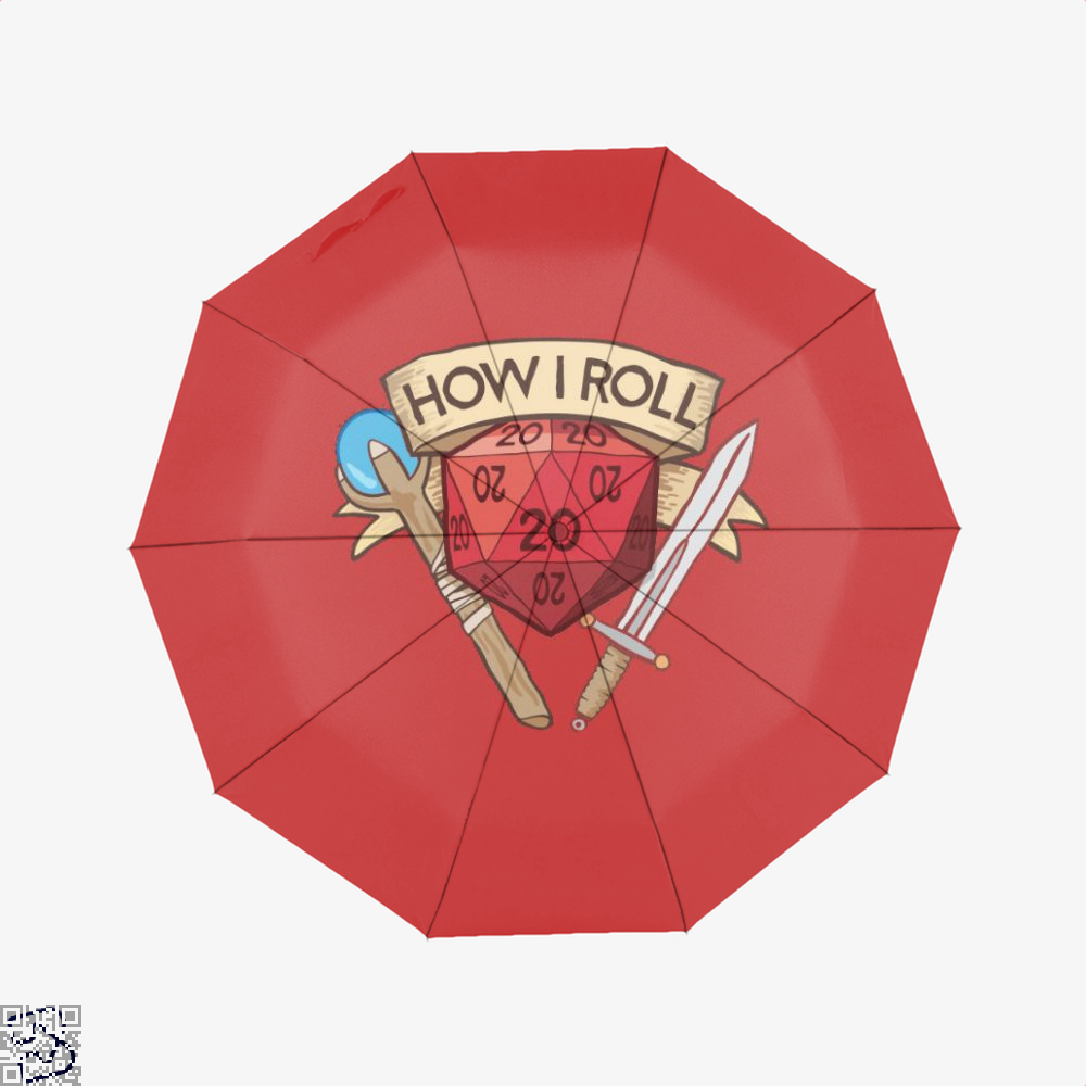 How I Roll Dungeons Dragon And Dungeon Umbrella - Red - Productgenjpg