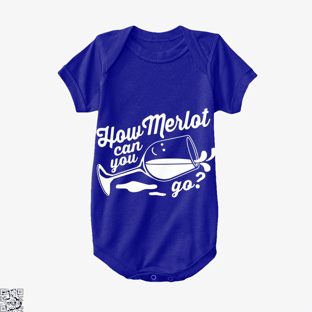 How Merlot Can You Go Grape Wine Baby Onesie - Navy / 0-3 Months - Productgenapi