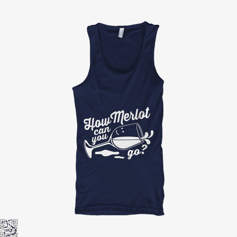 How Merlot Can You Go Grape Wine Tank Top - Women / Blue / Small - Productgenapi
