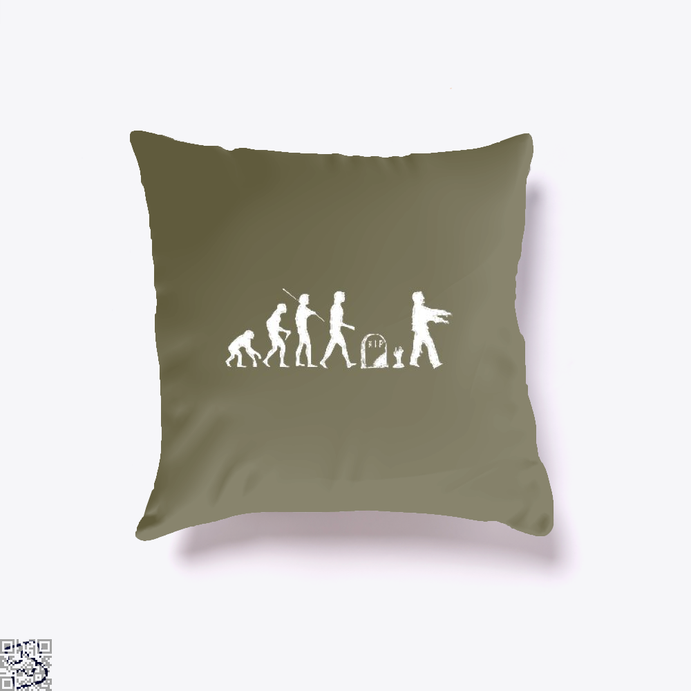 Human Evolutionary History Hyperbolic Throw Pillow Cover - Brown / 16 X - Productgenjpg
