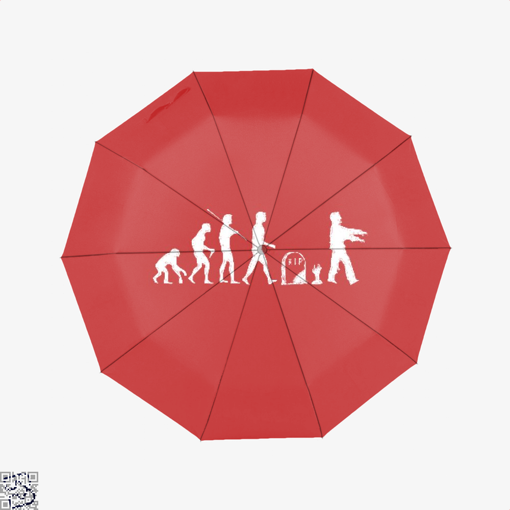 Human Evolutionary History Hyperbolic Umbrella - Red - Productgenjpg
