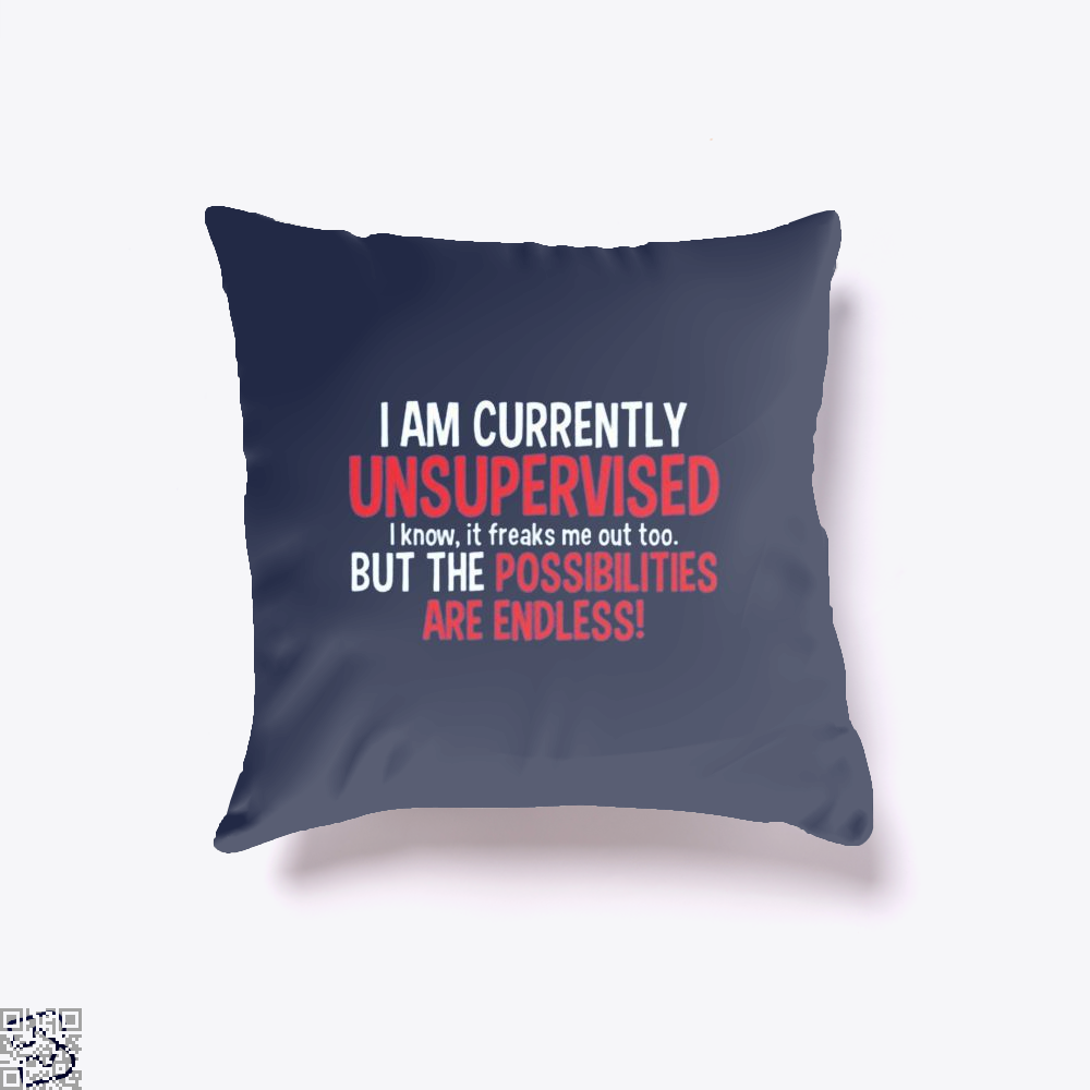 I Am Currenty Unsupervised Anecdotal Throw Pillow Cover - Productgenjpg