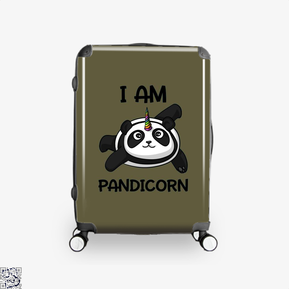 I Am Pandicorn Panda Suitcase - Brown / 16 - Productgenjpg