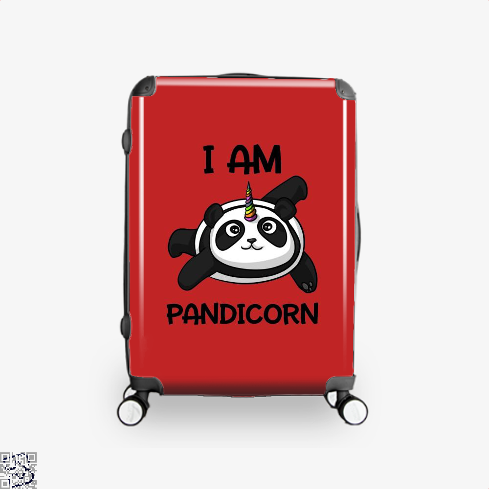 I Am Pandicorn Panda Suitcase - Red / 16 - Productgenjpg