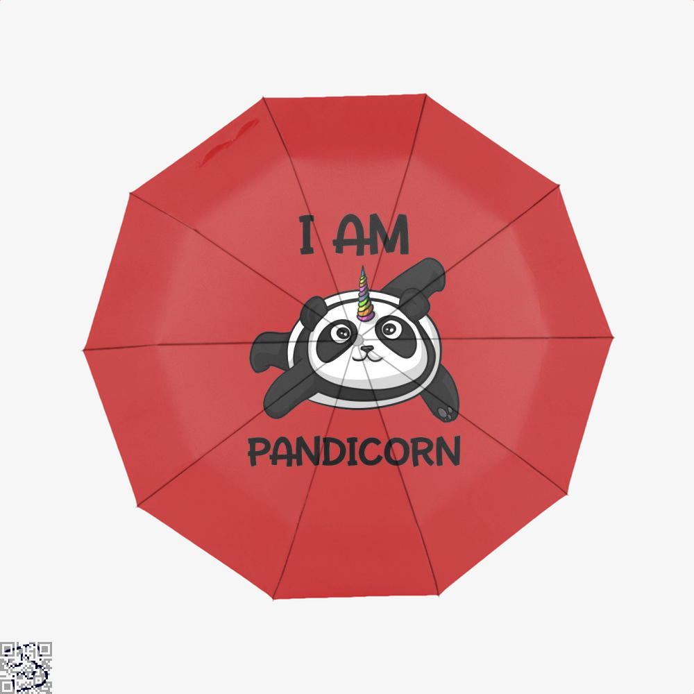 I Am Pandicorn Panda Umbrella - Red - Productgenjpg