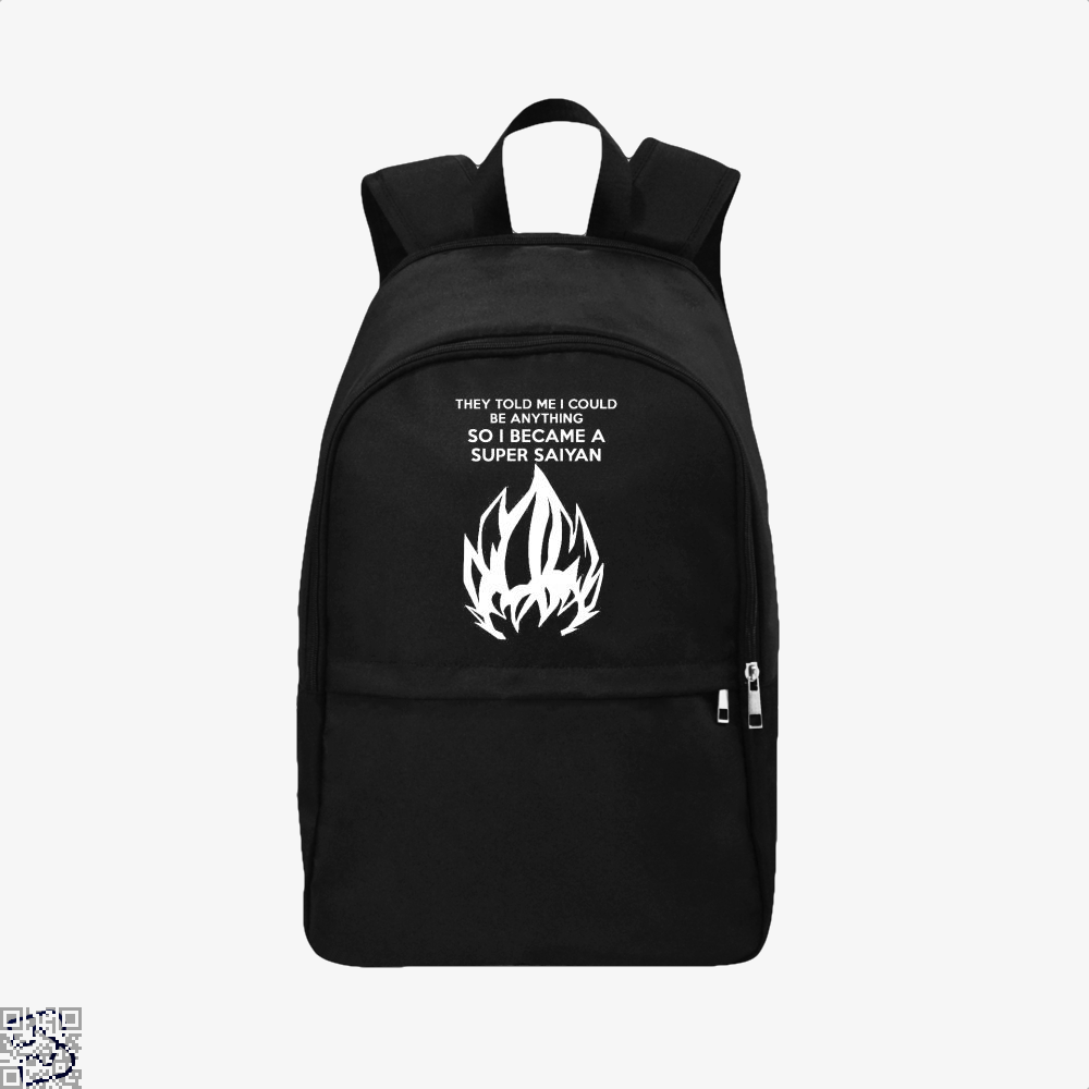 I Became A Super Saiyan Dragon Ball () Backpack - Black / Adult - Productgenjpg