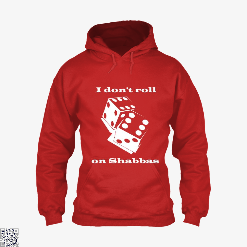 I Dont Roll On Shabbas Juvenile Hoodie - Red / X-Small - Productgenjpg