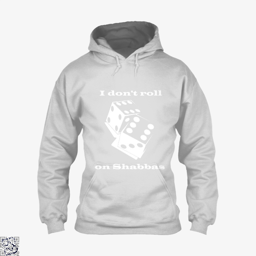 I Dont Roll On Shabbas Juvenile Hoodie - White / X-Small - Productgenjpg