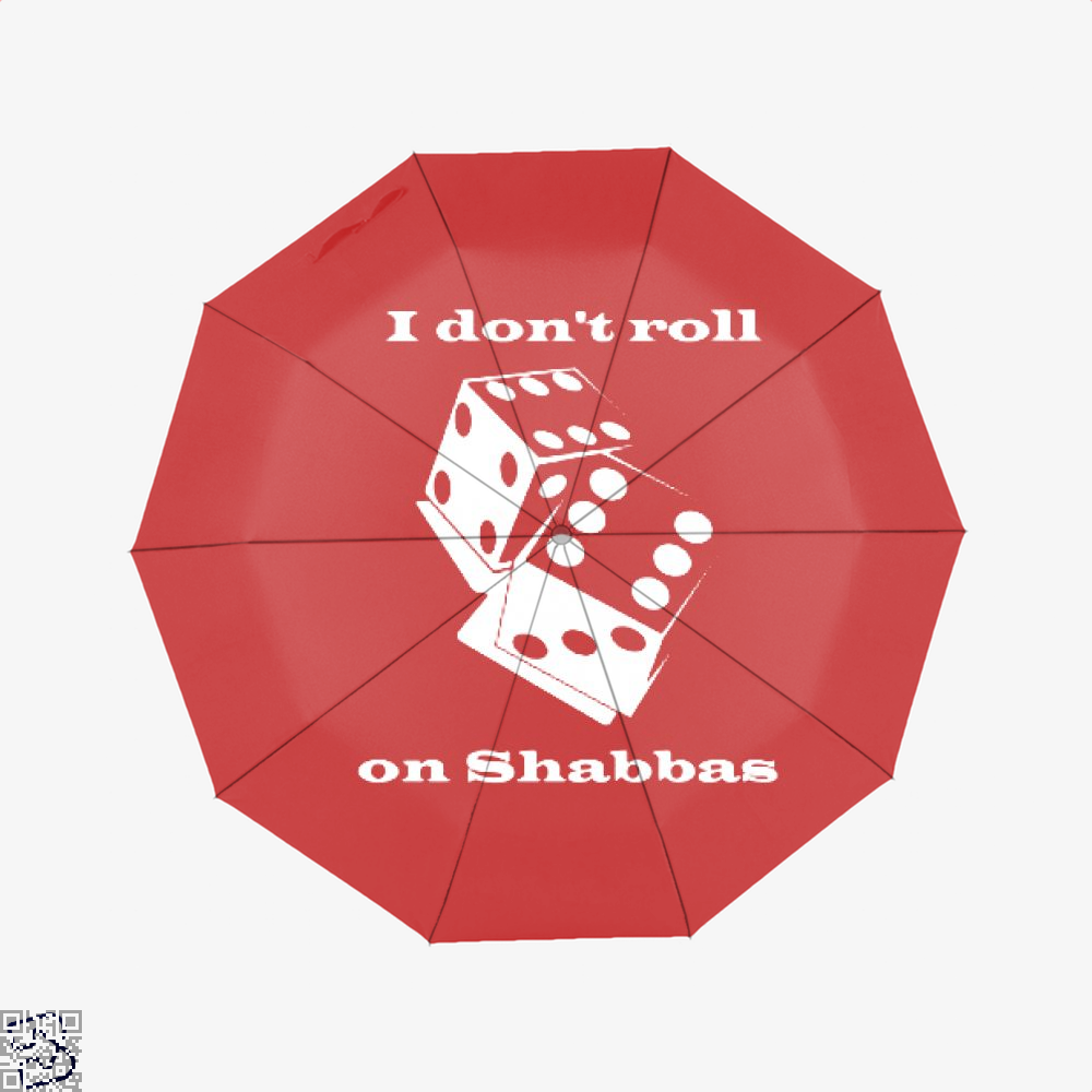 I Dont Roll On Shabbas Juvenile Umbrella - Red - Productgenjpg