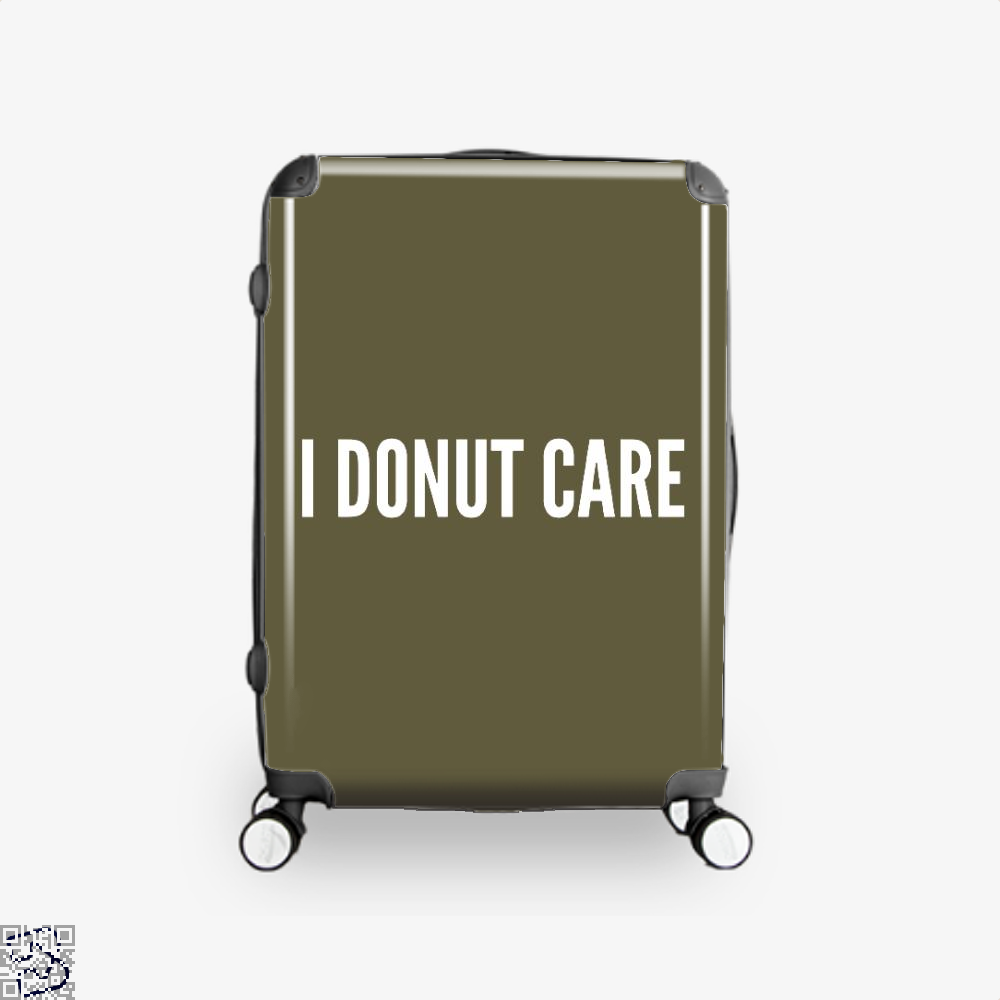 I Donut Care - Funny Food Pun Doughnuts Suitcase - Brown / 16 - Productgenapi