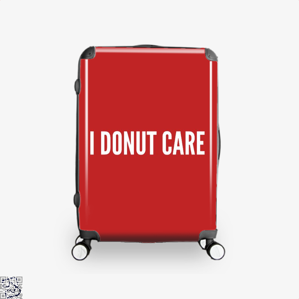 I Donut Care - Funny Food Pun Doughnuts Suitcase - Red / 16 - Productgenapi