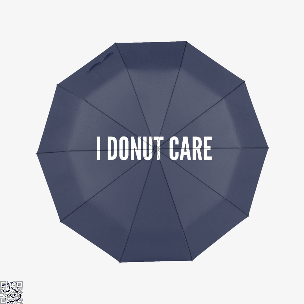 I Donut Care - Funny Food Pun Doughnuts Umbrella - Blue - Productgenapi