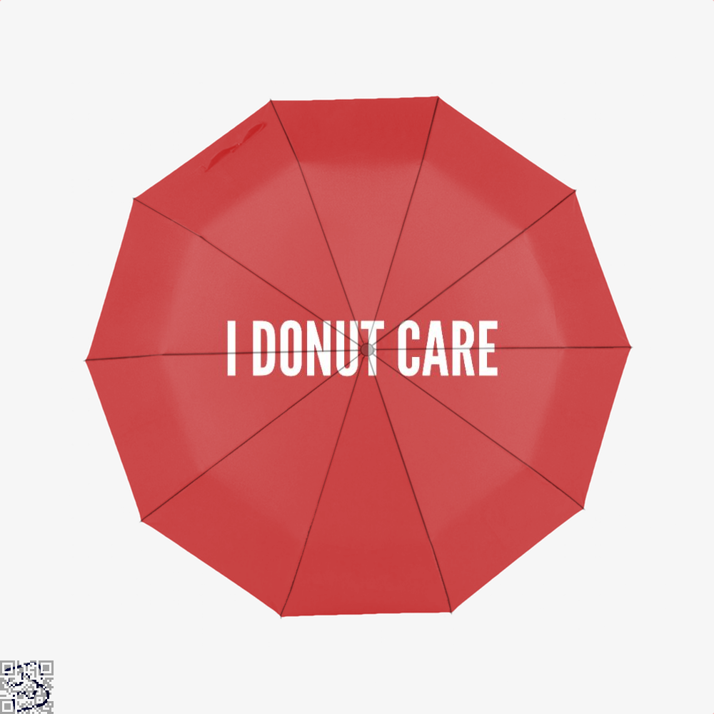 I Donut Care - Funny Food Pun Doughnuts Umbrella - Red - Productgenapi