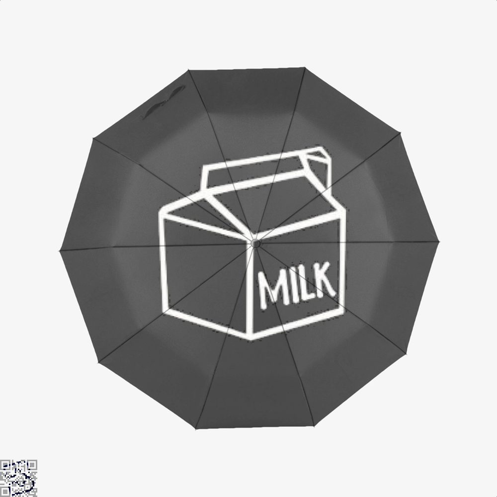 I Drink Milk Juvenile Umbrella - Black - Productgenjpg