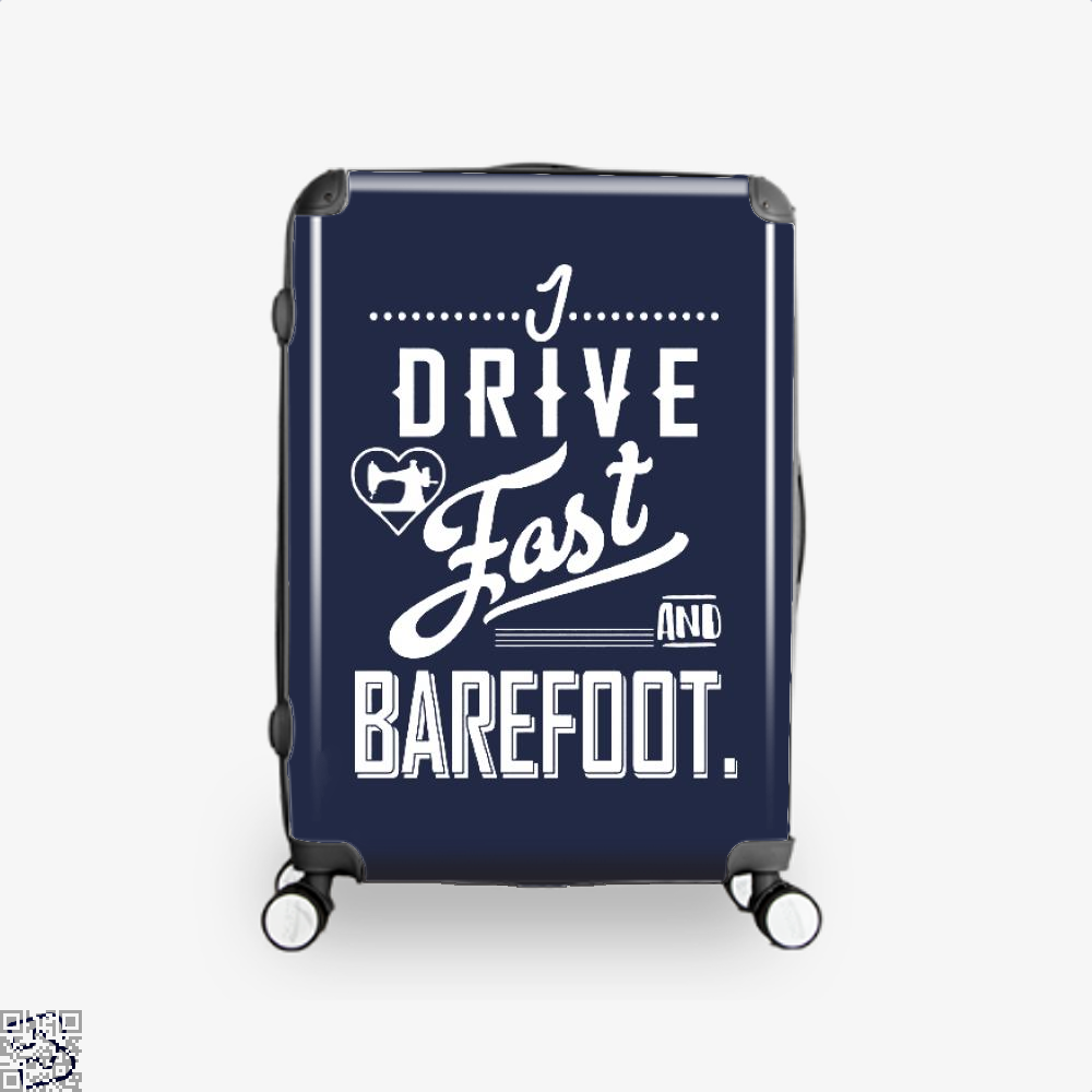I Drive Fast And Barefoot Sewing Suitcase - Blue / 16 - Productgenjpg