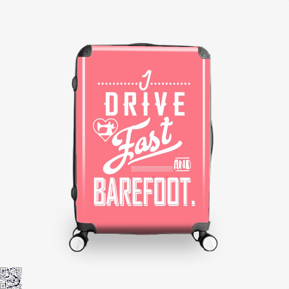 I Drive Fast And Barefoot Sewing Suitcase - Pink / 16 - Productgenjpg