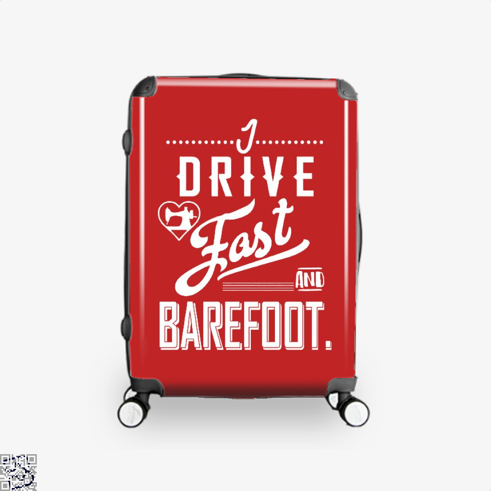 I Drive Fast And Barefoot Sewing Suitcase - Red / 16 - Productgenjpg