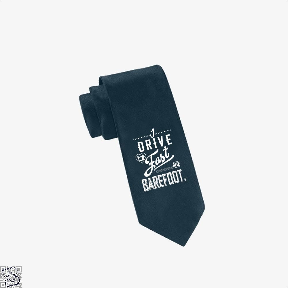 I Drive Fast And Barefoot Sewing Tie - Navy - Productgenjpg