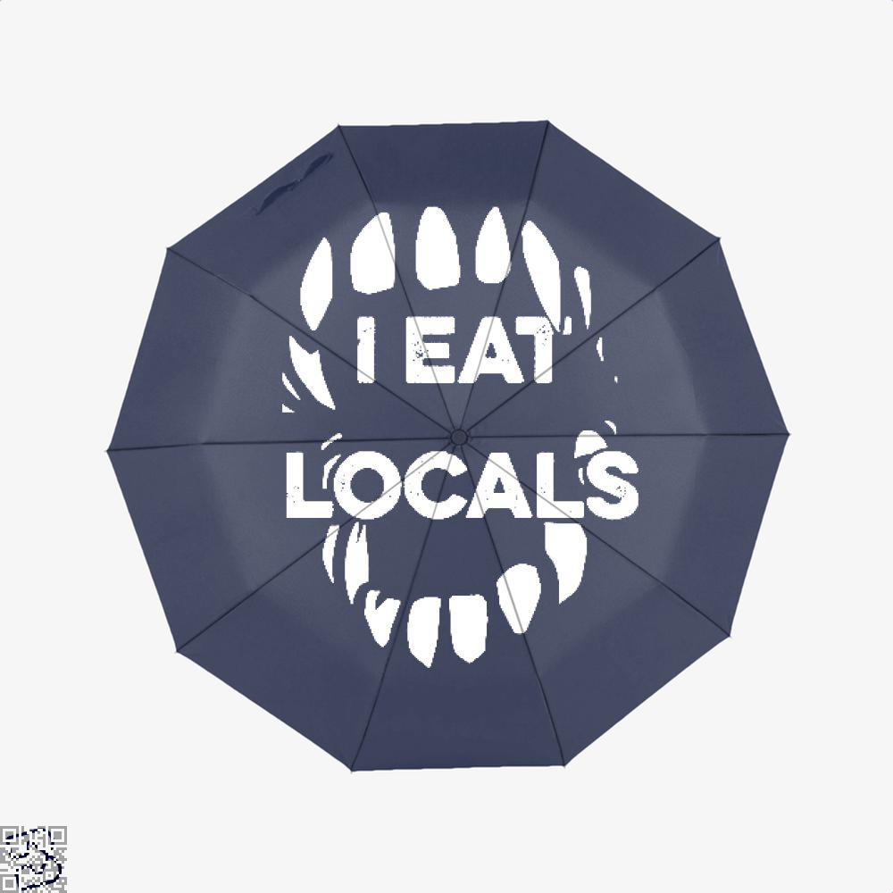 I Eat Locals Halloween Umbrella - Productgenjpg