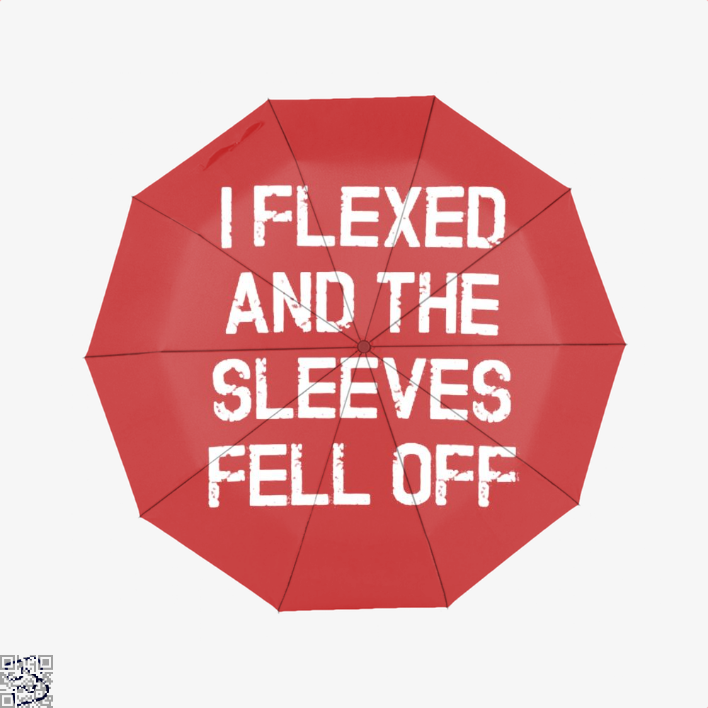 I Flexed And The Sleeves Fell Off Fitness Umbrella - Red - Productgenjpg
