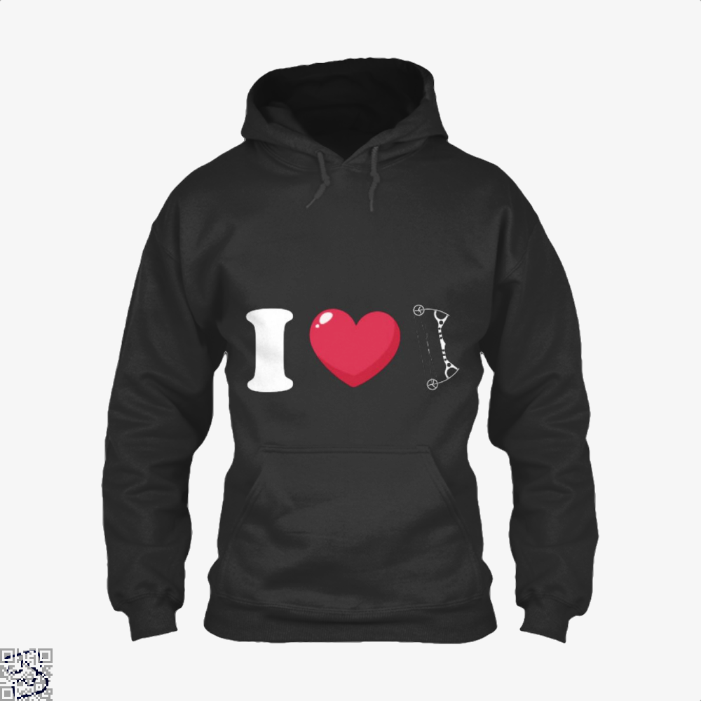I Love Archery Hoodie - Black / X-Small - Productgenapi