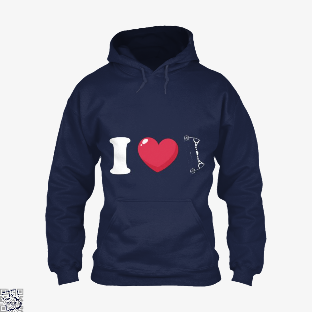 I Love Archery Hoodie - Blue / X-Small - Productgenapi