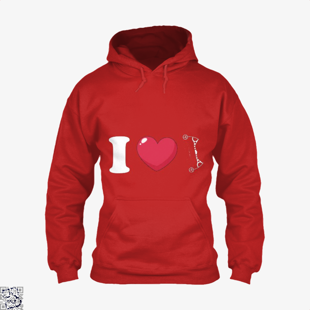 I Love Archery Hoodie - Red / X-Small - Productgenapi