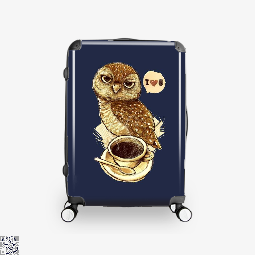 I Love Coffee Owl Suitcase - Blue / 16 - Productgenapi